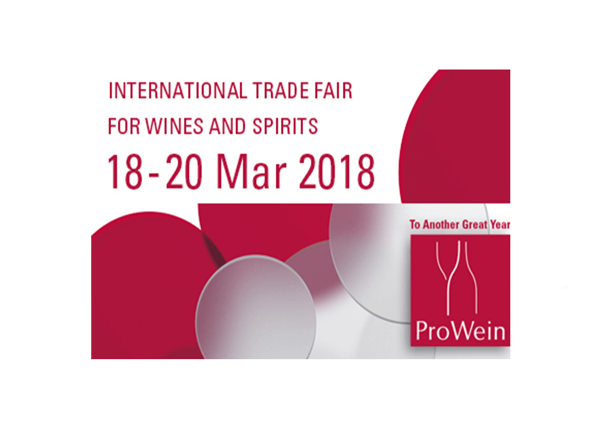 From 18 to 20 March 2018, ProWein Düsseldor