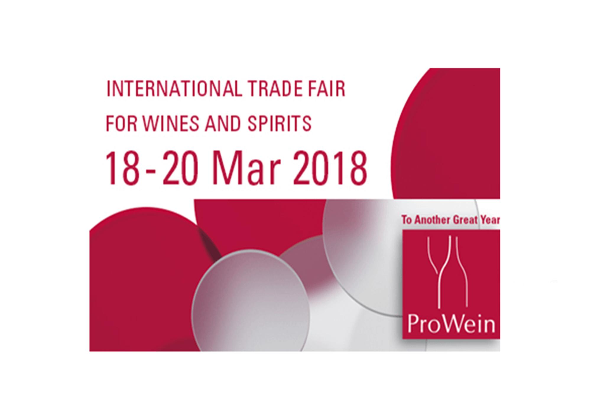 From 18 to 20 March 2018, ProWein Düsseldor
